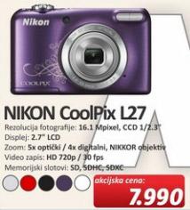 Digitalni Fotoaparat CoolPix L27
