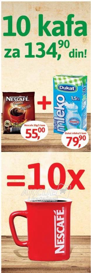 10 kafa za 134.90 dinara!
