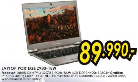Laptop Portege Z930-18W