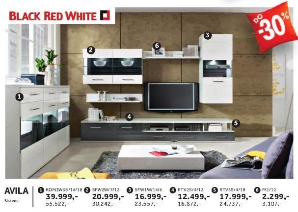 Rtv komoda Rtv2s/4/12 Avila Black Red White