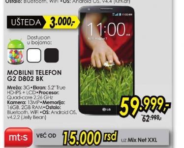 Mobilni telefon G2 D802 BK