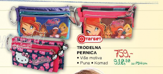 Trodelna perionica, Target