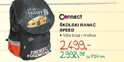 Školski ranac Speed, Connect