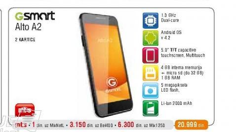 Mobilni telefon GSmart Alto A2