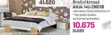 Bracni krevet ANJA 140 2NO1B