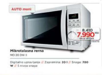 Mikrotalasna Rerna Mo 20Dwii