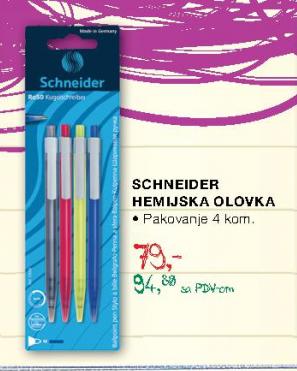 Hemijska olovka, Schneider
