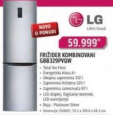 Kombinovani Frižider GBB329PVQW