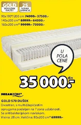 Dušek Gold S70 140x200cm