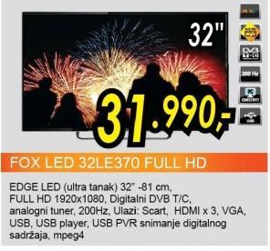 """Televizor LED 32"""" 32le370 Full Hd"""