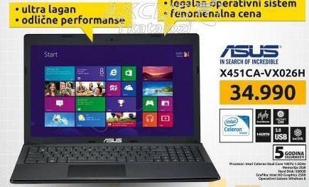 Laptop X451CA-VX026H