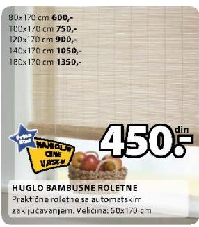 Bambusne roletne Huglo 140x170 cm
