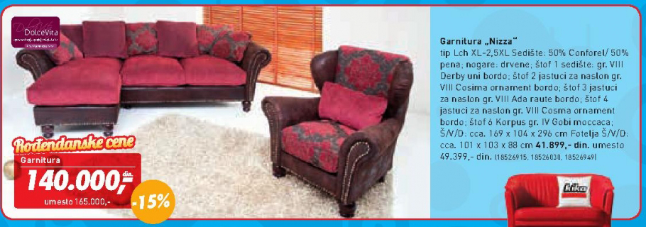 Fotelja Nizza