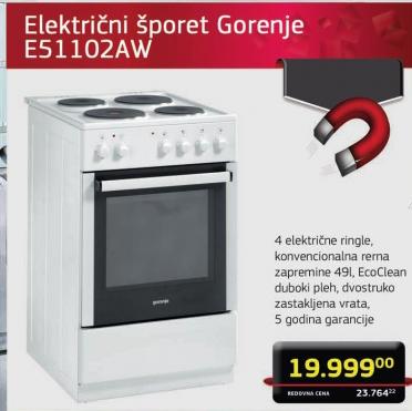Električni Šporet E51102Aw