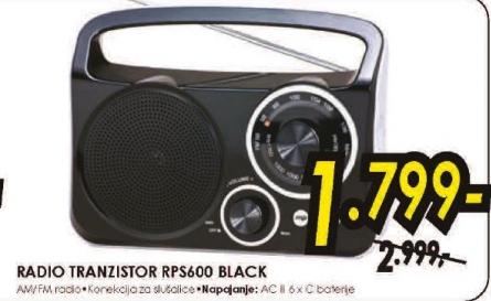 Radio tranzistor RPS600 BLACK