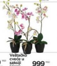 Veštačko cveće u saksiji