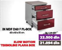 Kuhinjski element IN MDF D60 F PL-BOX bordo sjaj