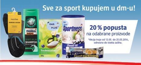 Sve za sport kupujem u DM-u