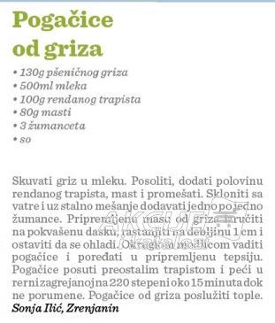 Recept Pogačice od griza