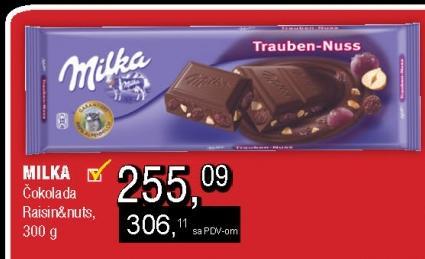 Čokolada raisin&nuts