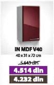 Kuhinjski element IN MDF V40 bordo sjaj