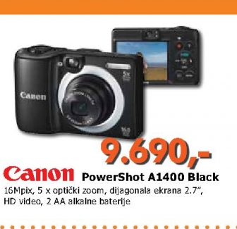 A1400 Black digitalni foto aparat