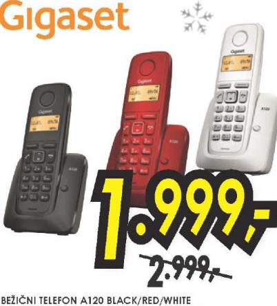 Bežični telefon Gigaset A120 BLACK/RED/WHITE