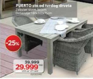 Baštenski sto Puerto