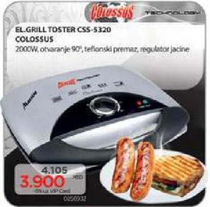 Električni grill toster Css-5320