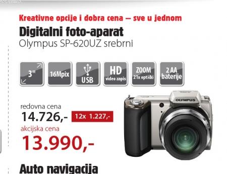 Digitalni foto-aparat SP-620UZ srebrni
