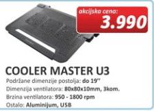 Postolje za laptop COOLER MASTER U3