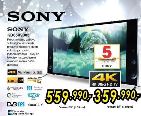 """Televizor LED 65"""" 3D Kd65x9005"""
