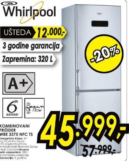 Frižider Wbe 3375  NFC TS