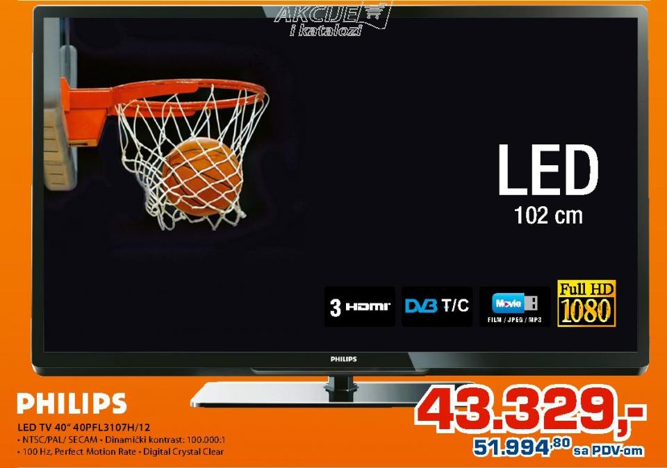LED TV 40'' 40PFL3107H/12