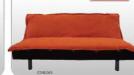 Ležaj Klik-klak Calypso Oranž