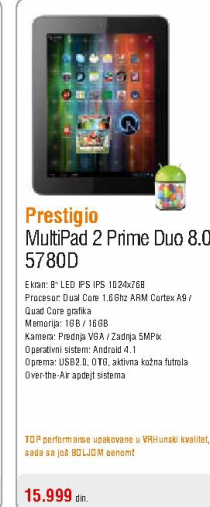 Tablet MultiPad 2 Prime Duo 8.0 (5780D)