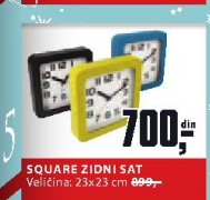 Zidni sat Square