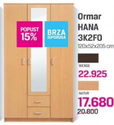 Ormar Hana 3K2F0 Natur