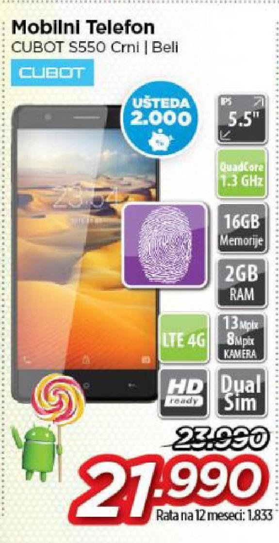 Mobilni telefon Cubot S550