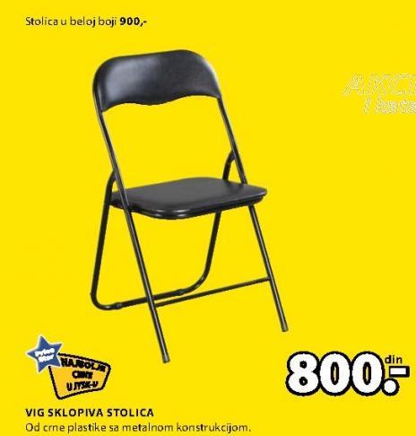Stolica sklopiva Vig bela