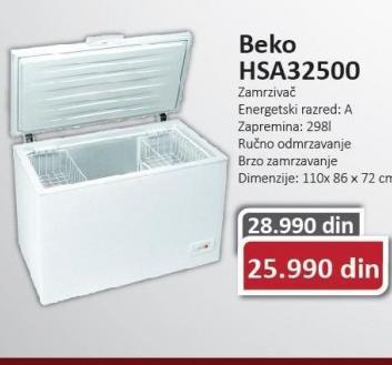 Horizontalni zamrzivač HSA32500