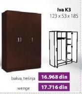 Garderober Iva K3 Bukva trešnja