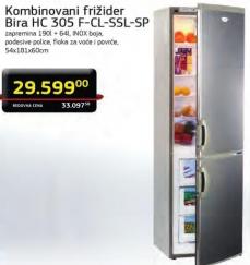 Frižider kombinovani HC305FCLSSLSP