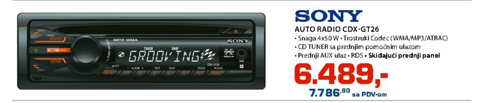 Auto Radio Cdx-Gt26