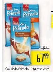 Čokolada Primola