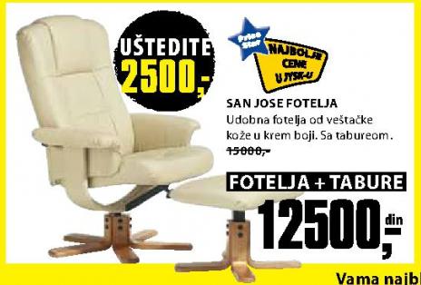 Fotelja sa tabureom San Jose