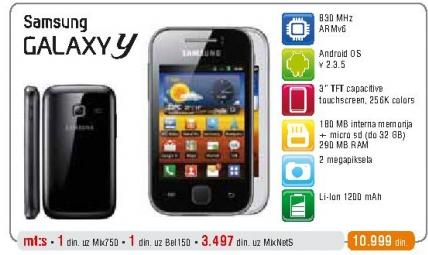 Mobilni Telefon GALAXY Y
