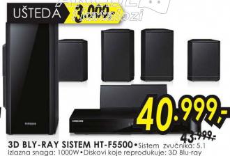 3D Bly-ray sistem HT-F5500