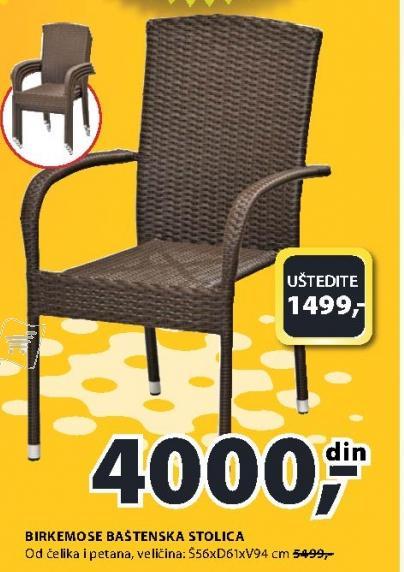 Baštenska stolica Birkemos