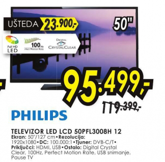 Televizor LED50PFL3008H